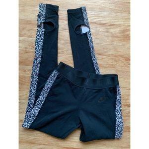Nike black leggings full length Sz S